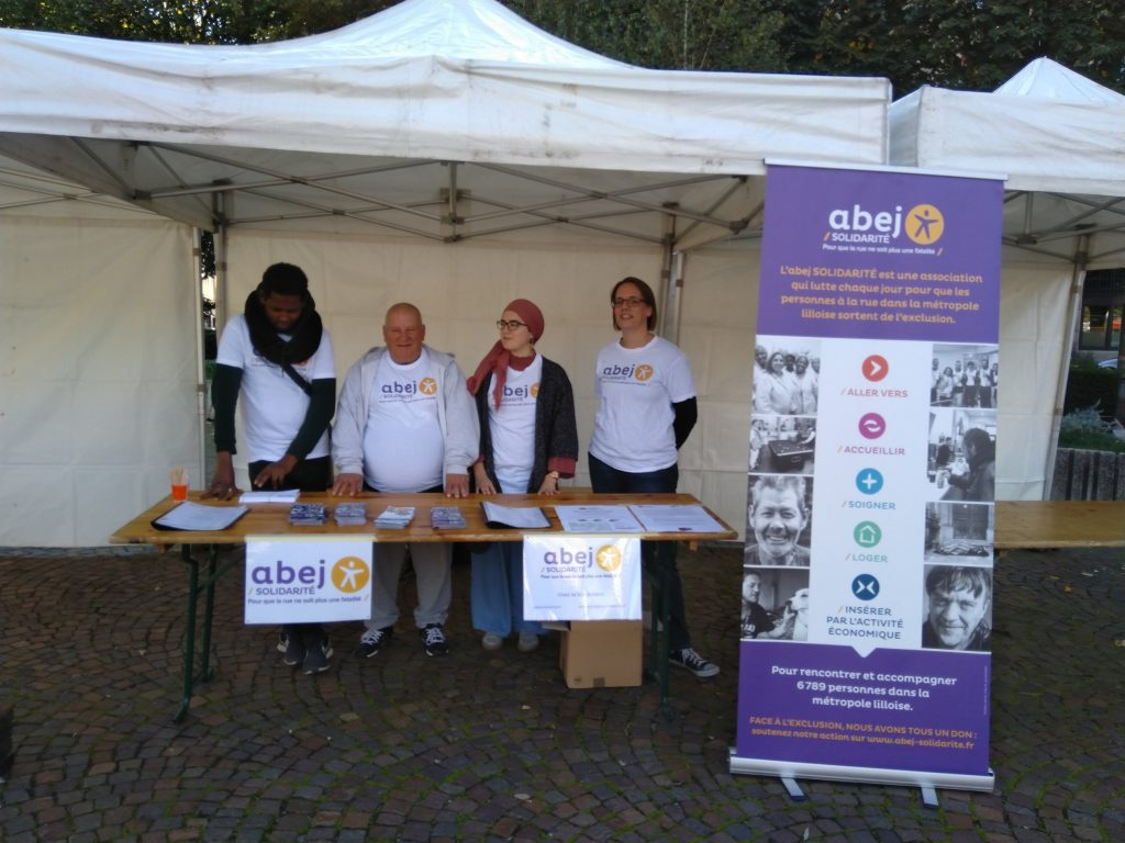 l'abej Solidarité mobilisée pour la journée mondiale du refus de la misère